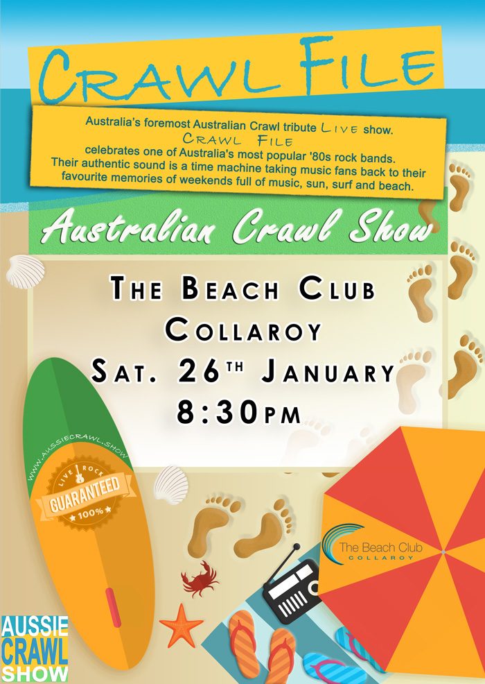 aussie crawl show the beach club collaroy