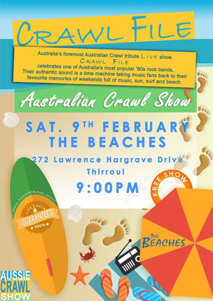 aussie crawl show the beaches thirroul