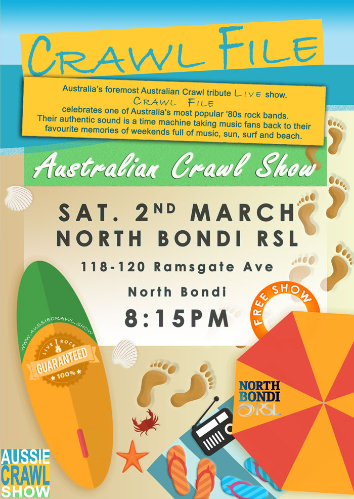 aussie crawl show north bondi rsl