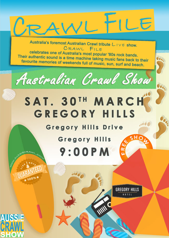 aussie crawl show gregory hills