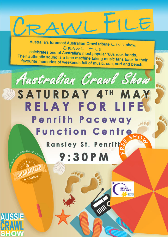 aussie crawl show relay for life penrith