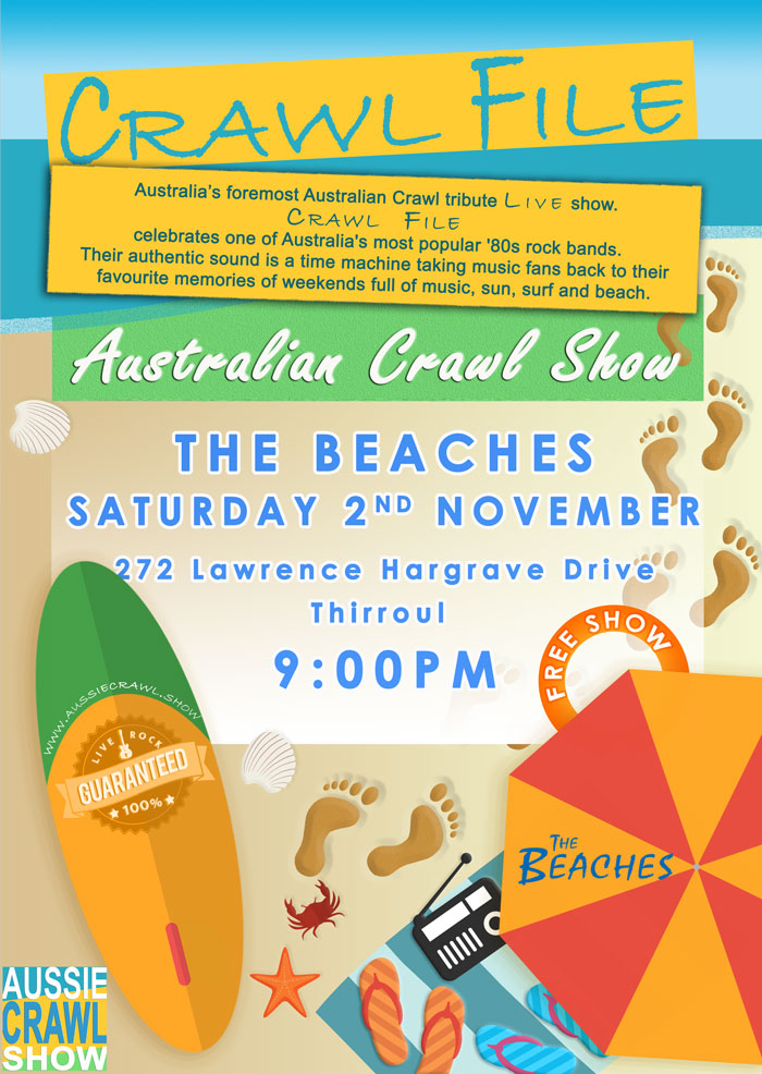 Aussie Crawl Show @ the beaches
